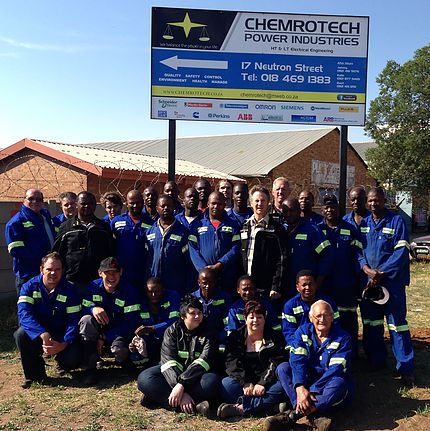The experienced team of Chemrotech.