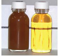 Two samples of oil